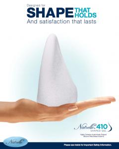 Shaped gel implants