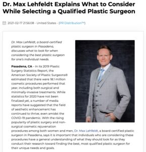 Dr. Max Lehfeldt of Teleos Plastic Surgery discusses how individuals can choose the best plastic surgeon for their needs and goals.